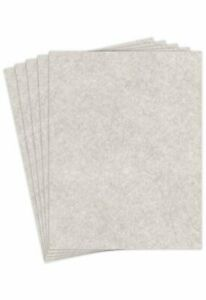 """Stationery Parchment Recycled Paper   65Lb Cover Cardstock   8.5"""" x 11"""" Inch"""