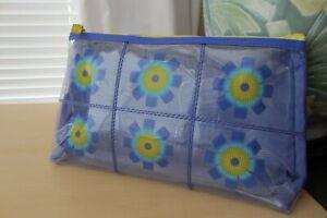 Clinique Transparent Violet Flower Cosmetic Bag