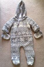 NEXT Unisex Grey White Fairisle Snowsuit 3-6 Months