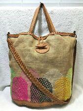 Anthropologie En Shalla London Woven Leather Shopper Bag NWOT!