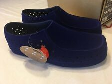 Native Royal Blue Suede Loafers Unisex Men Size 8 Women Size 10