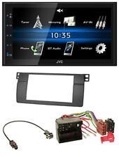 JVC 2DIN Bluetooth MP3 AUX USB Autoradio für BMW 3er E46 Profiversion großem Nav