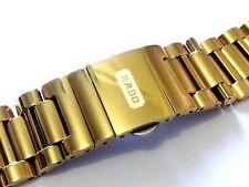 New Rado Diastar G/P Push Button Fold Over Clasp 18mm Watch Bracelet, Strap.