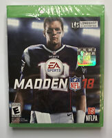EA Sports Madden 18 Xbox One New Factory Sealed Free Shipping A6