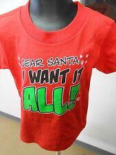 Toddler Licensed Dear Santa I Want It All Shirt New 3T
