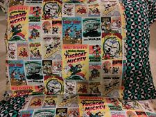 Mickey Mouse old comic pattern 100% new Cotton handmade Pillowcase one pair