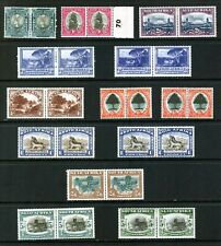SOUTH AFRICA 1947 - 54 ; 13 MINT PAIRS ½d TO 5s x 2 RANGE SG 114 - 122a : LIST