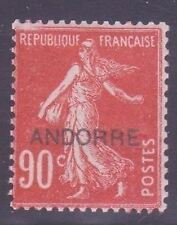 """ANDORRE STAMP TIMBRE N° 12 """" SEMEUSE 90c ROUGE """" NEUF xx TTB"""