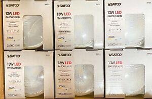 Satco S9433 (6) Pack Dimmable LED/PAR30LN/13W/4000K/120V Lamps