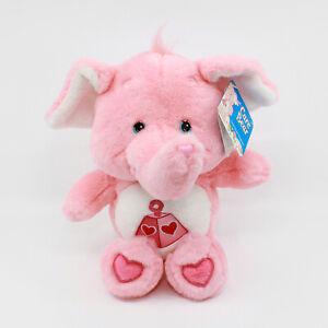 "LOTSA HEART ELEPHANT 13"" Plush with Tag - Pink Care Bear Cousins - 2004 TCFC Inc"
