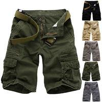 Summer Fashion Mens Vintage Army Baggy Short Pants Cargo Tactical Combat Shorts