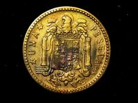 1 peseta 1947 estrella 49 F- a VF+