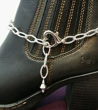 Boot Bling Bracelet Anklet Jewelry Heavy Oval Chain Jumbo Heart Clasp Crystal