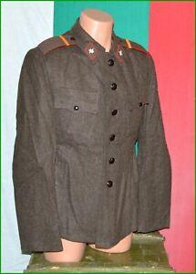 Bulgarian Army Soldier Winter pure Wool Tunic Frieze Uniform sz. M 1980's made