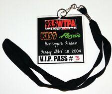 KISS Band VIP Backstage Pass Laminate Hershey Stadium PA 2004 Concert Tour