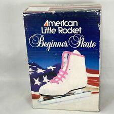 New listing American Little Rocket #380 Beginner Ice Skates Girls White Pink Size 12J