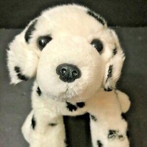 """Domino Flopsie 12"""" Aurora Plush Dalmation Black White Stuffed Animal"""
