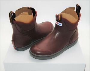 Xtratuf Ankle Deck Boots Waterproof Fishing Boat Shoe Burgundy Mens New