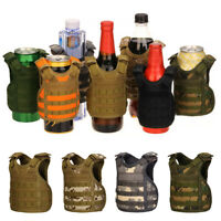 Xmas Military Tactical Mini Vest Soda Beer Bottle Coozie Coolie Koozie Hunter