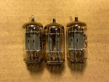 3 Matched Vintage Telefunken 12AX7 Smooth Long Plate Tubes Test OK