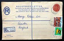 Jamaica 1969 carta certificada a Inglaterra AD841