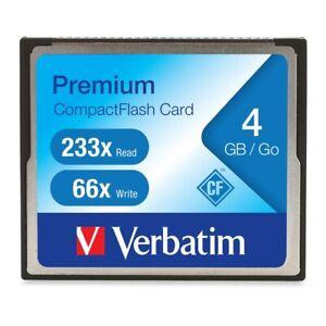 Verbatim Corporation 95500 4Gb Premium Compact Flash Cf Memory Card