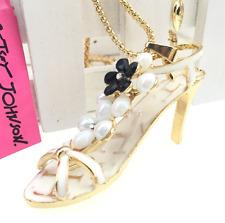 Betsey Johnson Chain Jewelry Pendant High-heeled sandal Women Gold Necklace