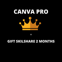 Canva Pro 1 Year Subscription With Warranty Annual Plan +2 Months Skillshare
