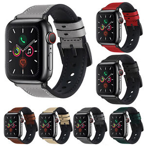 Leather Silicone Band Strap For Apple iWatch Series SE/6 5 4 3 2 1 38/42/40/44mm