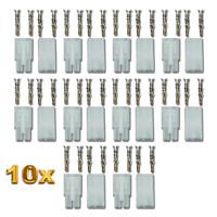 20 Stück 10 Paar Tamiya Stecker Buchse für Modelcraft Japanstecker Crimp Set 10A