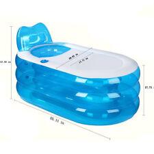 New Fashion Adult SPA Folding Portable Bathtub Warm Inflatable PVC Bath Tub US