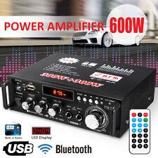 600W Car Home 2CH bluetooth 5.0 Digital Power Amplifier Stereo Audio Radio c f