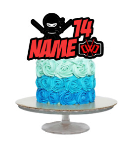 SPY NINJAS INSPIRED PERSONALISED BIRTHDAY CAKE TOPPER ANY NAME AND AGE