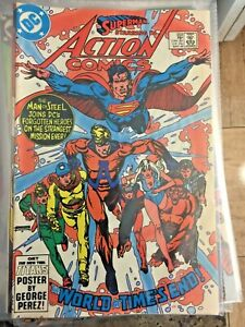 Action Comics #553 - The World At Time's End starring Superman!