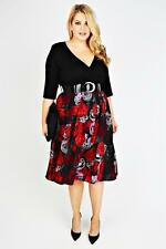Plus Floral Wrap Dresses for Women