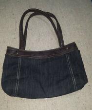 Thirty-One Fitted City Skirt Purse/Hand Bag w/Denim Interchangeable Skirt Retire