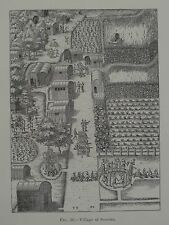 Algonquin Village Of Secotan North Carolina 1881 Original Print