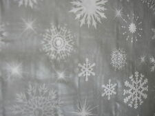 pack of 2 christmas table cloth covers silver snow flakes each 90cms x 90 cms