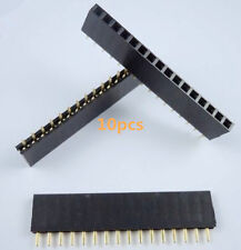10Stk  Single Row 16pin 2.54mm Female Header Strip Socket Connector