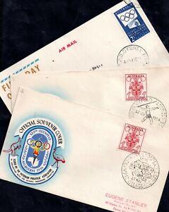 Australia 1956 Melbourne Olympics various FDC's WS16148
