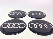NEW 4pcs Silicone Stickers for Wheel Centre Cap Hubs for AUDI - 90mm