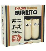 Throw Throw Burrito by Exploding Kittens A Dodgeball Card Game  Party Games