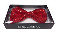 NEW Tuxedo Classic BowTie Red Sequin Neckwear Adjustable Unisex Bow Tie