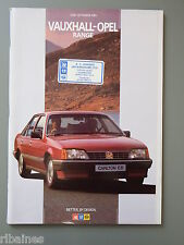 R&L Sales Brochure: Vauxhall Opel Range 1985, Monza/Senator/Astra GTE/Cavalier