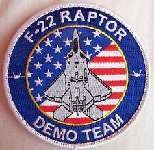 F-22 Raptor Demo Team Patch ORIGINAL OEM, vom offiziellen Hersteller - RARE