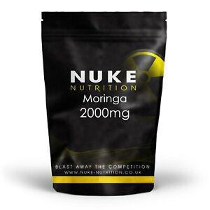 Moringa 2000mg Superfood Capsules 100% Raw High Strength Tablets x 120