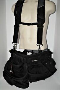 "husky framer's suspension rig with suspenders 17 pocket up to 52"" waist"