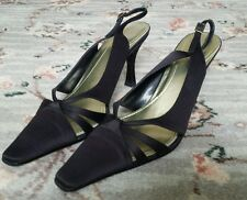Gorgeous Next Strappy Black Slingback Shoes Size 6.5 *** EC***