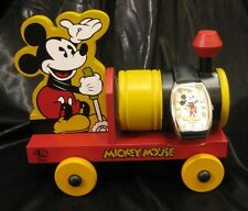 MICKEY MOUSE DISNEY LI-1452 LIMITED EDITION Fossil Watch and Wooden Toy Train
