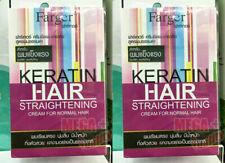 2 x Hair Straightener Keratin Cream Strong Resistance Natural Curly Porous Weak